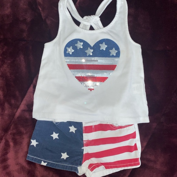 Toddler 2 piece American flag outfit